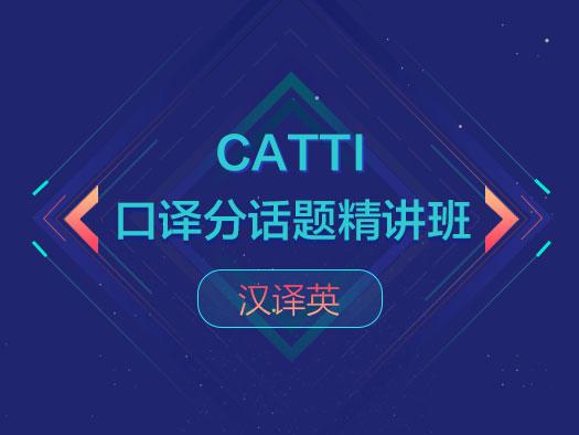 CATTI口译,分话题,精讲班,汉译英