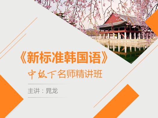 新标准韩国语,新标准韩国语中级